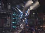 Original blue spider Gundam