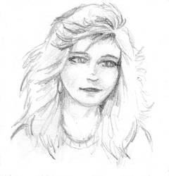 Pencil sketch Girl 1