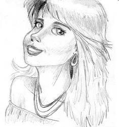 Pencil sketch Girl 2