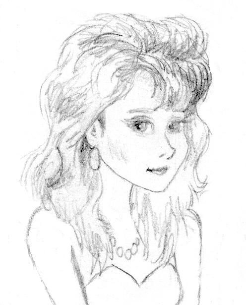 Pencil sketch girl 3 by peskinhead
