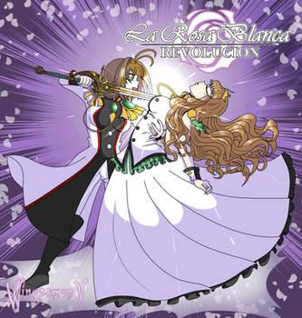 Sakura y Kotori de La Rosa Blanca Revolucion by WingzemonX
