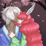 100 Theme OC Challenge: Under The Cherry Blossoms by MissRiku