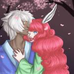 100 Theme OC Challenge: Under The Cherry Blossoms by MissRiku