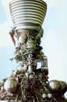 exposed rocket engine