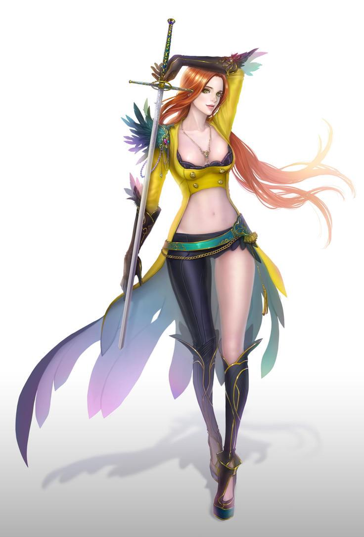The Sword Woman by eliz7