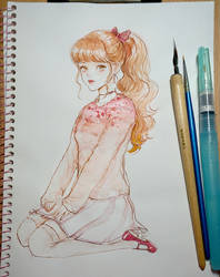 Pink salt knit