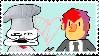 :Stamp: Gay Spaghetti Chef X Khonjin by Green-Puppy
