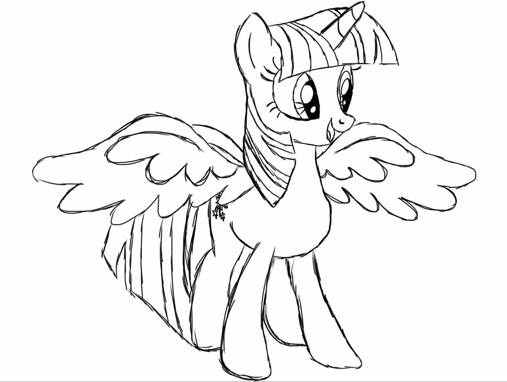 Alicorn Twilight Sketch-Up by ExoticLithe on DeviantArt