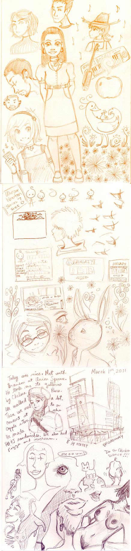 Sketch dump March 1 by NenaLuna