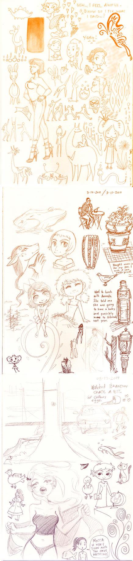 Sketch dump March 2 by NenaLuna