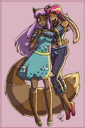 Chokola and NenaLuna by NenaLuna