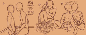YCH | late valentine cute couples | CLOSED