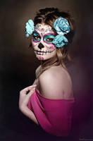 Sugar Skull Makeup by bumbastix