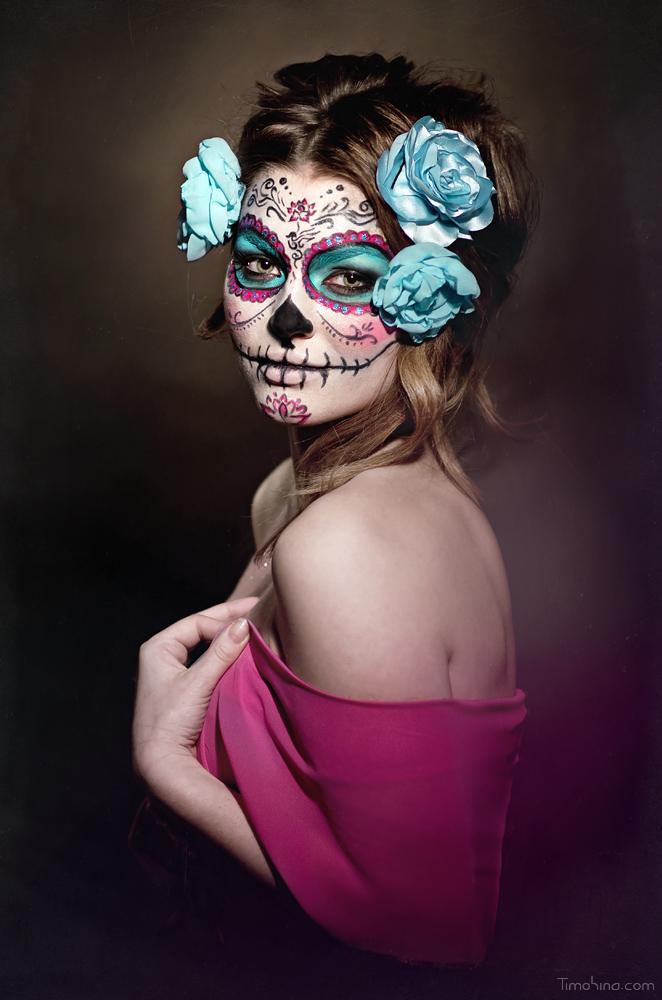 sugar skull makeup wallpaper - photo #24