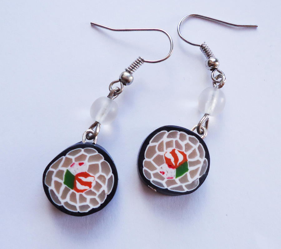 Sushi Earrings v2 by FrozenNote
