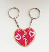 Split Heart Cookie by FrozenNote