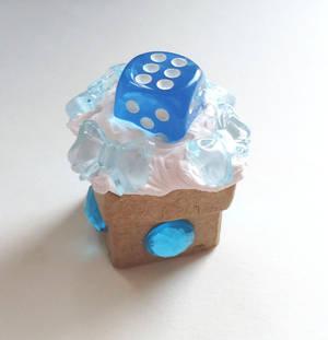 blue dice box