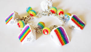 Rainbow Cake Bracelet