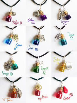 Homestuck - troll blood necklaces
