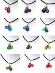 Zodiac bottle necklaces