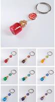 Zodiac bottle keychains