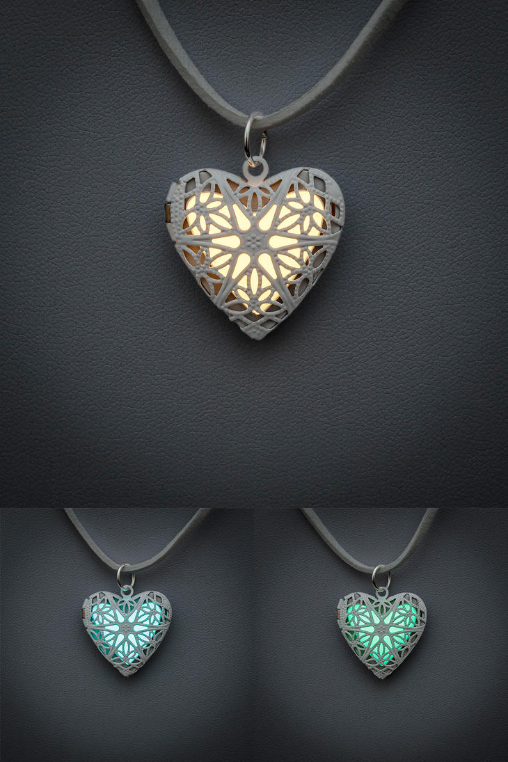 Heart Lockets by FrozenNote