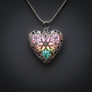 Rainbow Heart Locket