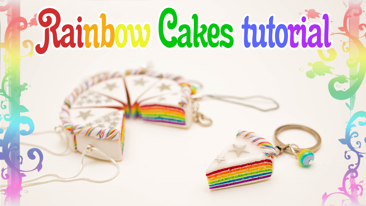 Rainbow Cakes tutorial + giveaway! by FrozenNote