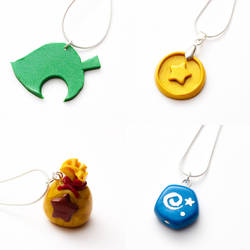 Animal Crossing necklaces by FrozenNote