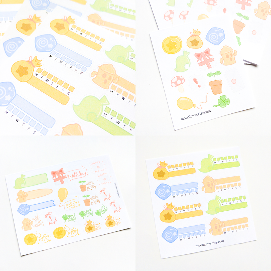 Animal Crossing New Leaf stickers by FrozenNote