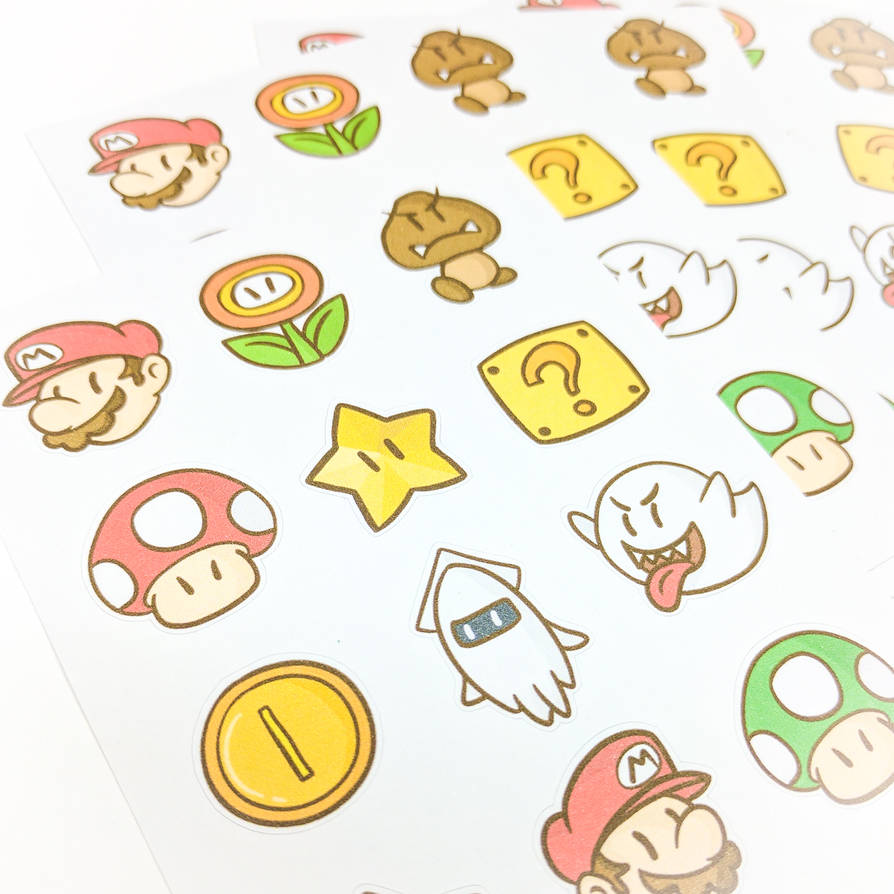 Super mario stickers by frozennote