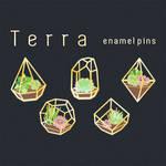 TERRA hollow enamel pins kickstarter