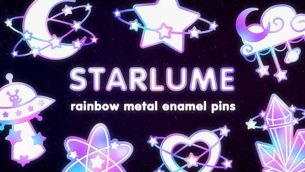 STARLUME rainbow metal enamel pins - KICKSTARTER