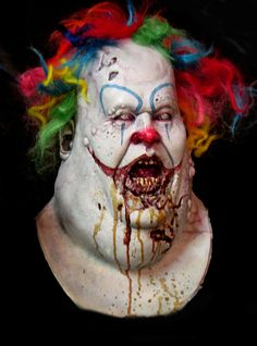 halloween masks scary clown by hellohalloween1
