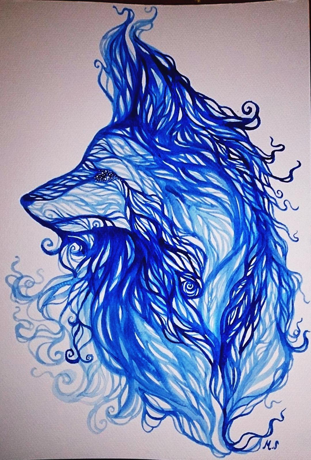 Blue fox by kajunixxD