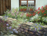 cottage with poppies
