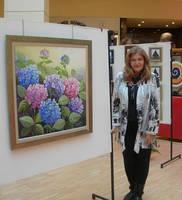 my last exhibition by Hydrangeas