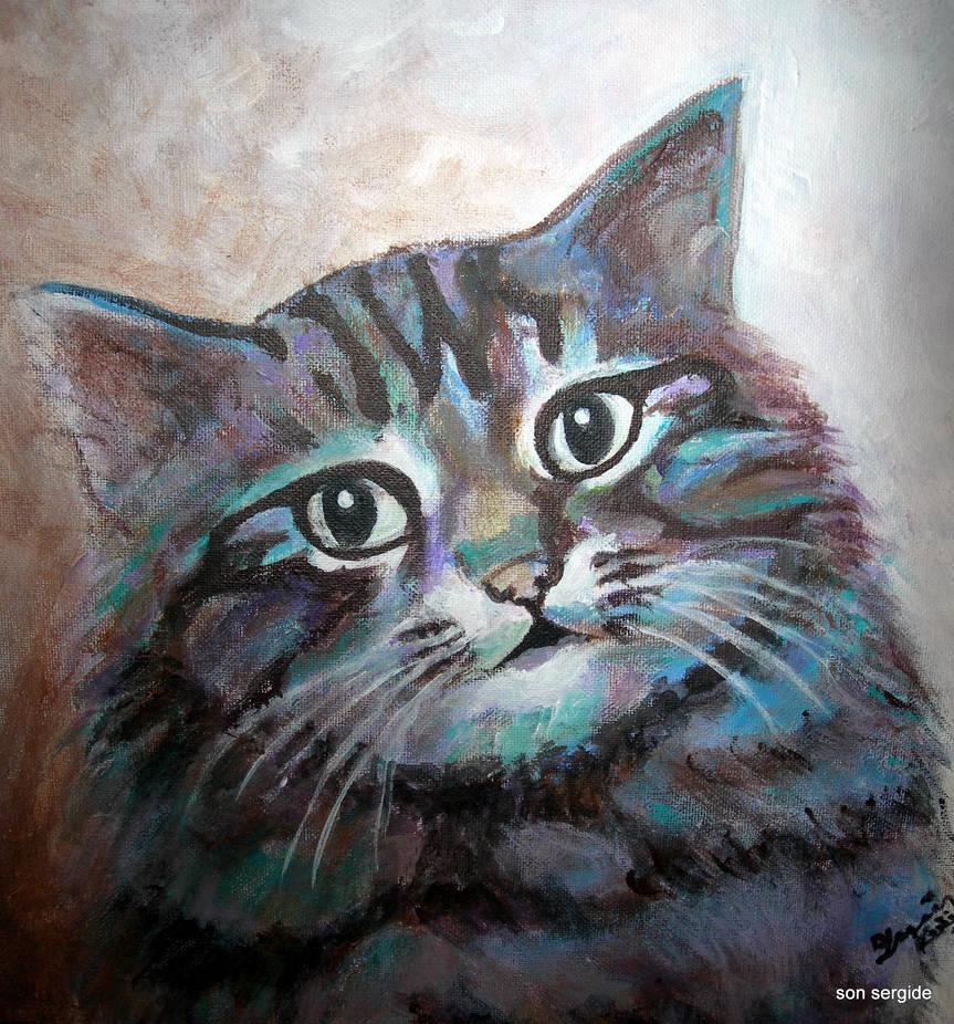 portrait by Hydrangeas
