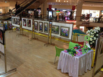 my last exhibition by Hydrangeas