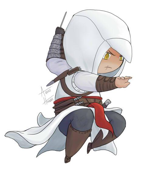 Assassin Chibi Altair by Aidiki-chan