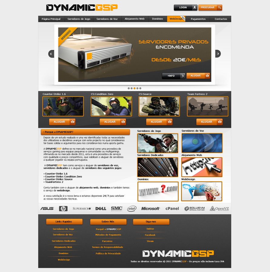 Dynamicgsp website by iron94 on deviantart for Website for selling art
