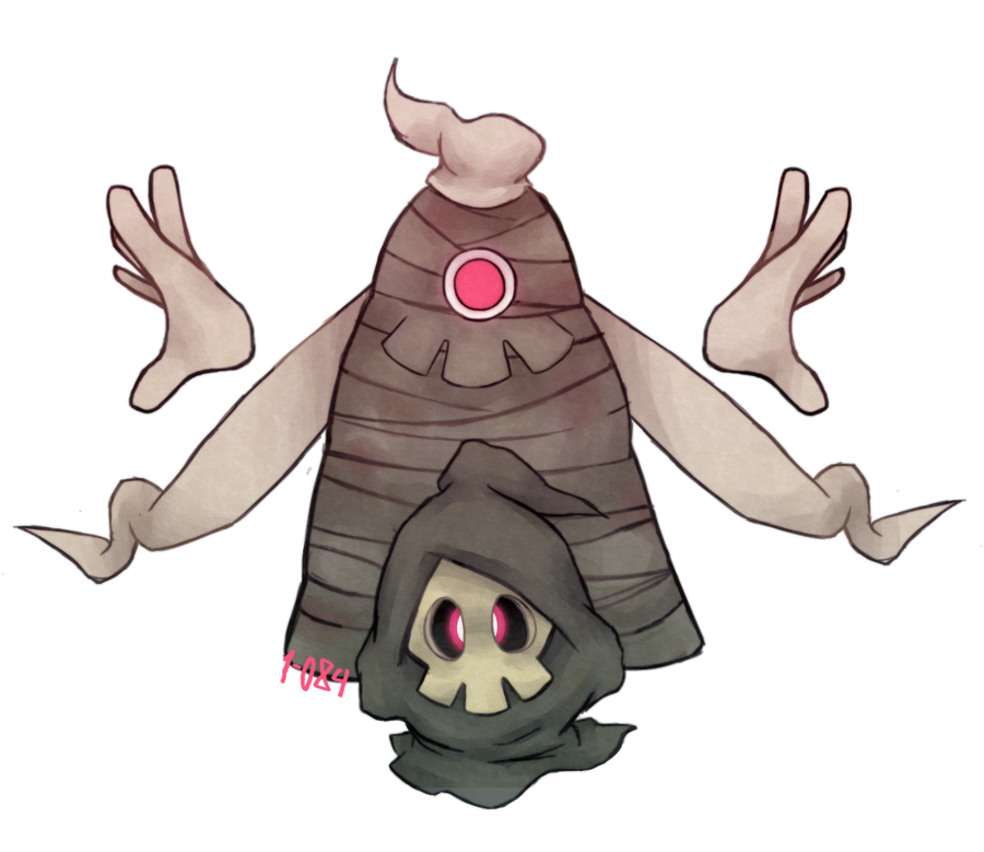 Renders Pokemons 01 355_and_356___duskull_and_dusclops_by_1_084-d6rntbg