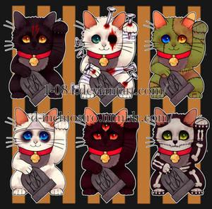 maneki neko stickers set pack