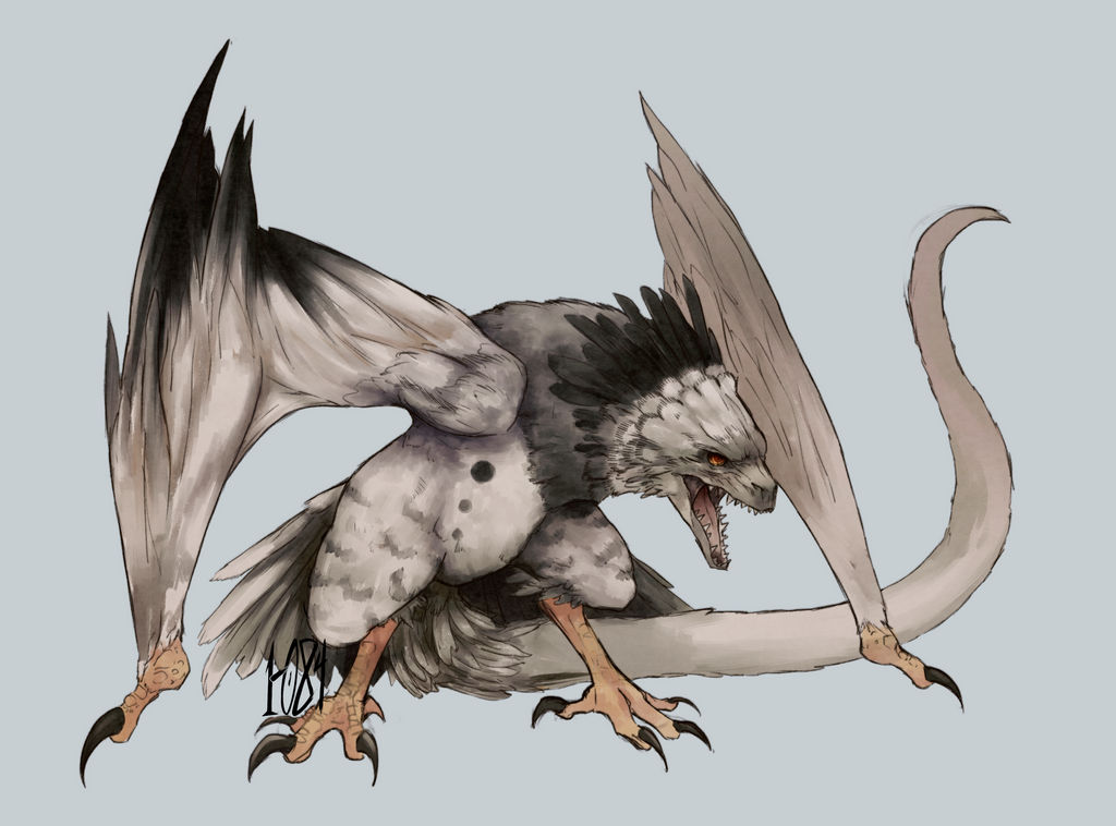 CE - Dragon X Harpy eagle by 1-084