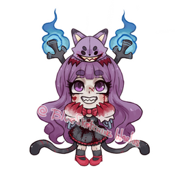 C -  Chibi Raeven by 1-084
