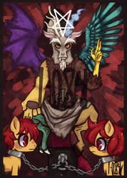 MLP - Discord X baphomet X The Devil by 1-084