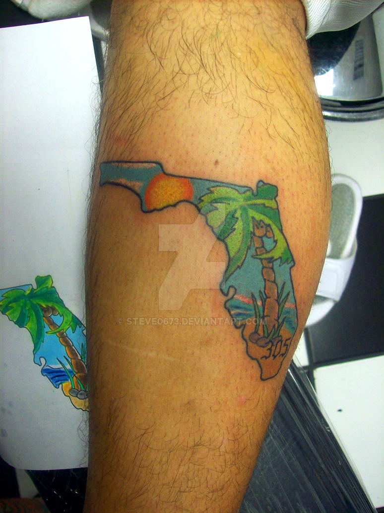 Florida tattoo by steve0673 on deviantart for South florida tattoo