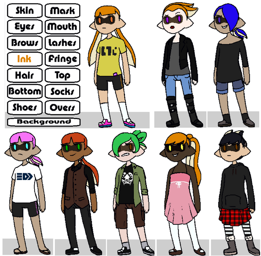 splatoon inkling creator by pencilapocalypse on deviantart