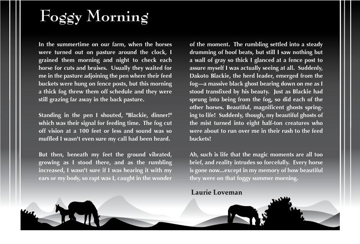 Foggy Morning by EagleTheCheetah
