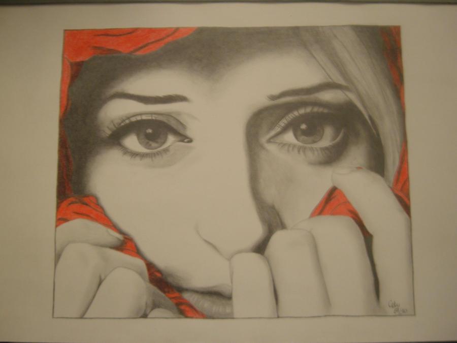 Sad Portrait by Celou